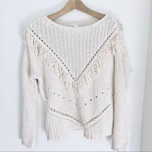 Chunky Knot Fringe H&M Sweater